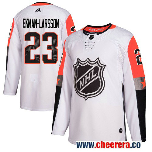 #23 Oliver Ekman-Larsson White Adidas NHL Men's Jersey Arizona Coyotes 2018 All-Star Pacific Division