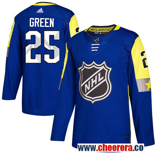#25 Mike Green Royal Blue Adidas NHL Men's Jersey Detroit Red Wings 2018 All-Star Atlantic Division