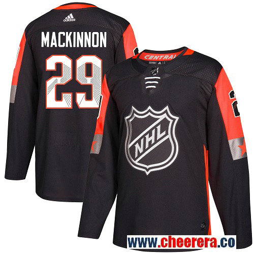 #29 Nathan MacKinnon Black Adidas NHL Men's Jersey Colorado Avalanche 2018 All-Star Central Division