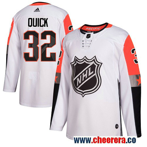 #32 Jonathan Quick White Adidas NHL Men's Jersey Los Angeles Kings 2018 All-Star Pacific Division
