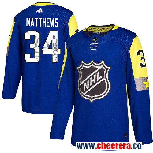 #34 Auston Matthews Royal Blue Adidas NHL Men's Jersey Toronto Maple Leafs 2018 All-Star Atlantic Division