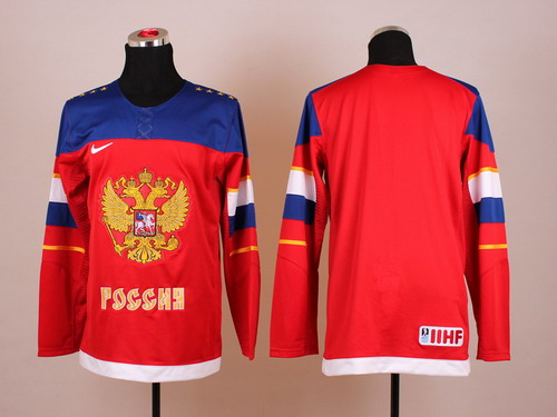 2014 Olympics Russia Blank Red Jersey