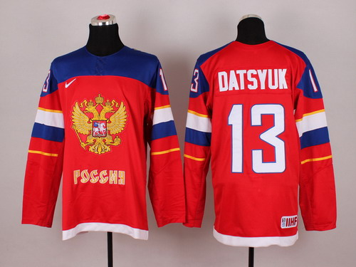 2014 Olympics Russia #13 Pavel Datsyuk Red Jersey