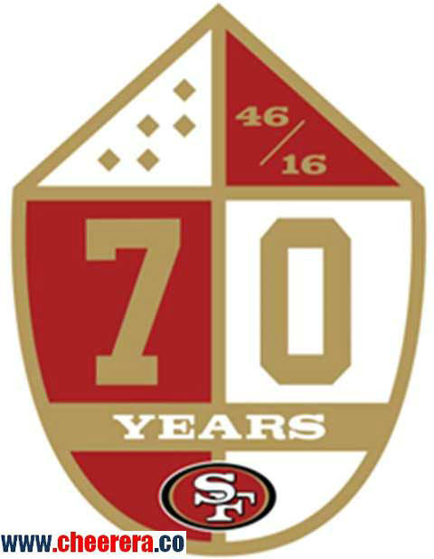 1946 - 2016 San Francisco 49ers 70th Anniversary Patch