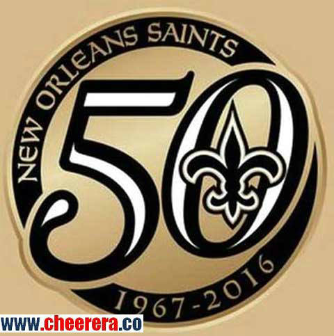1967 - 2016 New Orleans Saints 50th Anniversary Patch