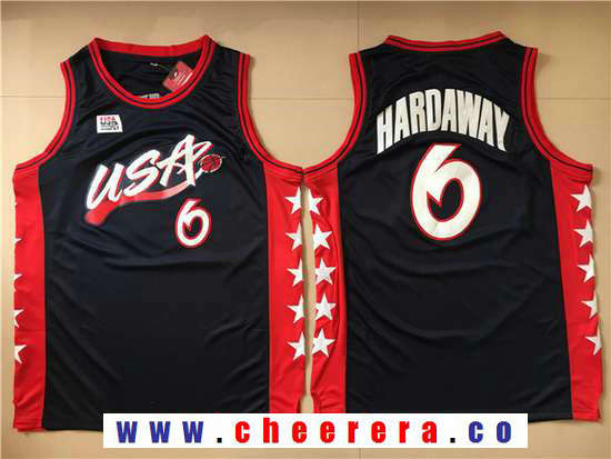 1996 Olympics Team USA Men's #6 Penny Hardaway Navy Blue Stitched Basketball Swingman Jersey