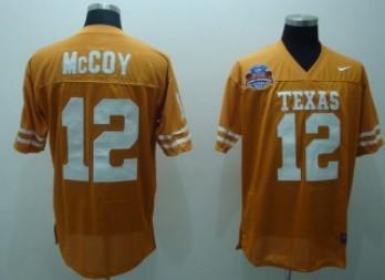 Texas Longhorns #12 McCoy Orange Jersey