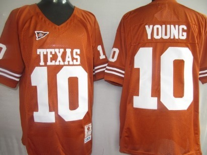 Texas Longhorns #10 Young Orange Jersey