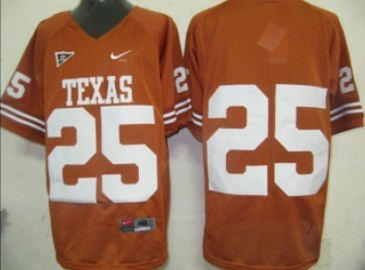 Texas Longhorns #25 Orange Jersey