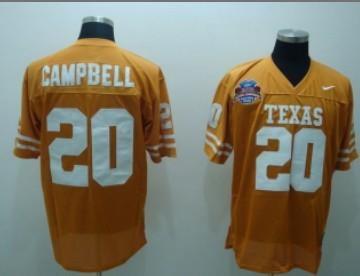 Texas Longhorns #20 Campbell Orange Jersey