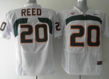 Miami Hurricanes #20 Reed White Jersey