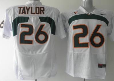 Miami Hurricanes #26 Taylor White Jersey