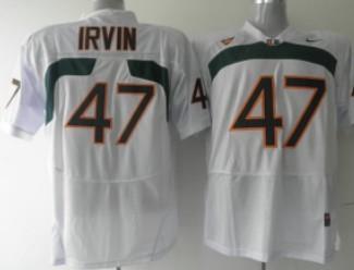 Miami Hurricanes #47 Irvin White Jersey