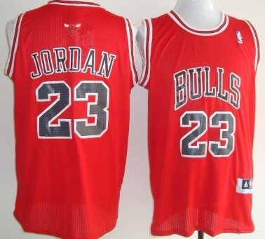 Chicago Bulls #23 Michael Jordan Revolution 30 Authentic Red Jersey
