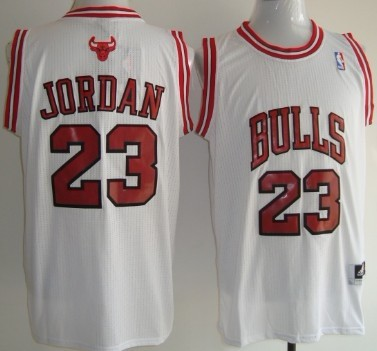 Chicago Bulls #23 Michael Jordan Revolution 30 Authentic White Jersey