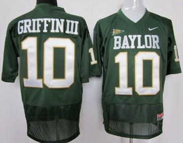 Baylor Bears #10 Robert Griffin III Green Jersey