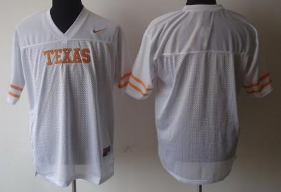 Texas Longhorns Blank White Jersey