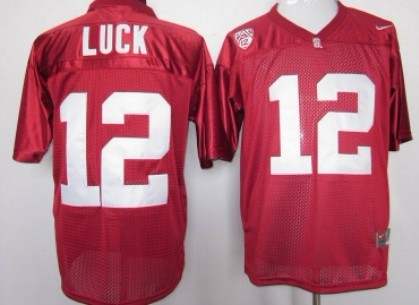 Standford Cardinals #12 Andrew Luck Red Jersey