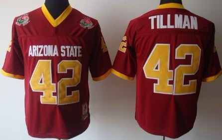 Arizona State Sun Devils #42 Pat Tillman Red Throwback Jersey