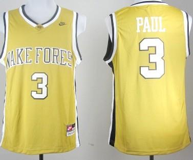 West Forsyth High School #3 Chris Paul Yellow Jersey