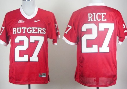 Rutgers Scarlet Knights #27 Ray Rice Red Jersey