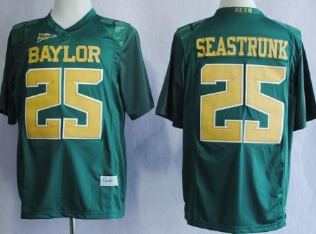 Baylor Bears #25 Lache Seastrunk 2013 Green Jersey