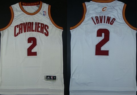 Cleveland Cavaliers #2 Kyrie Irving Revolution 30 Authentic White Jersey