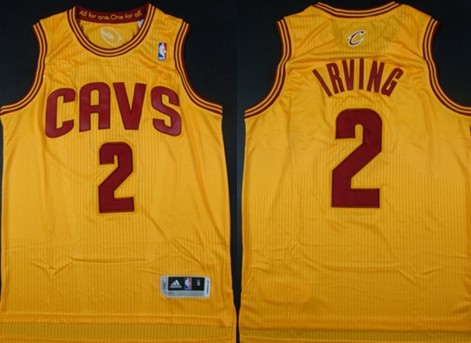 Cleveland Cavaliers #2 Kyrie Irving Revolution 30 Authentic Yellow Jersey