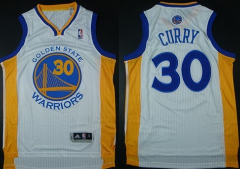 Golden State Warriors #30 Stephen Curry Revolution 30 Authentic White Jersey