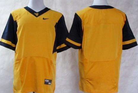 West Virginia Mountaineers Blank 2013 Yellow Elite Jersey