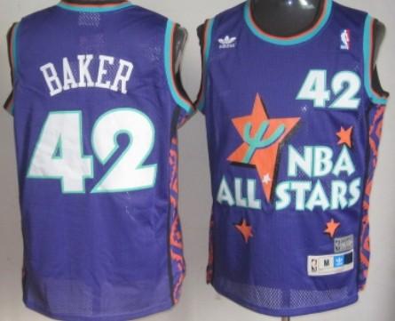 NBA 1995 All-Star #42 Vin Baker Purple Swingman Throwback Jersey