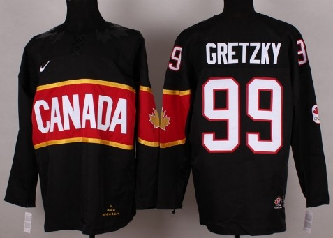 2014 Olympics Canada #99 Wayne Gretzky Black Jersey