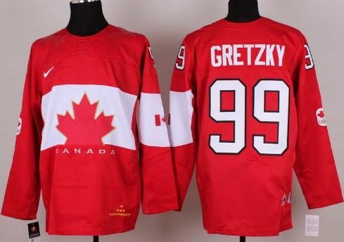 2014 Olympics Canada #99 Wayne Gretzky Red Jersey