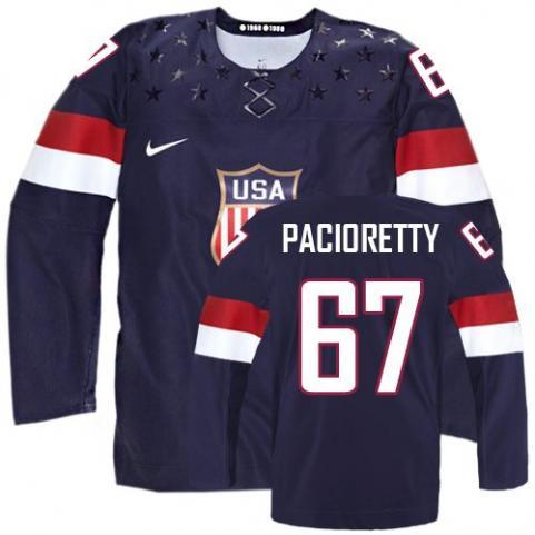 2014 Olympics USA #67 Max Pacioretty Navy Blue Jersey