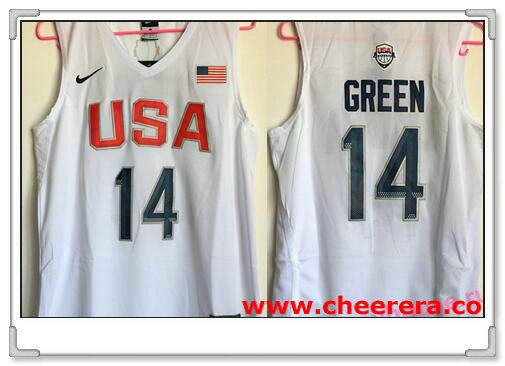 2016 Olympics Team USA Men's #14 Draymond Green White Revolution 30 Swingman Basketball Jersey