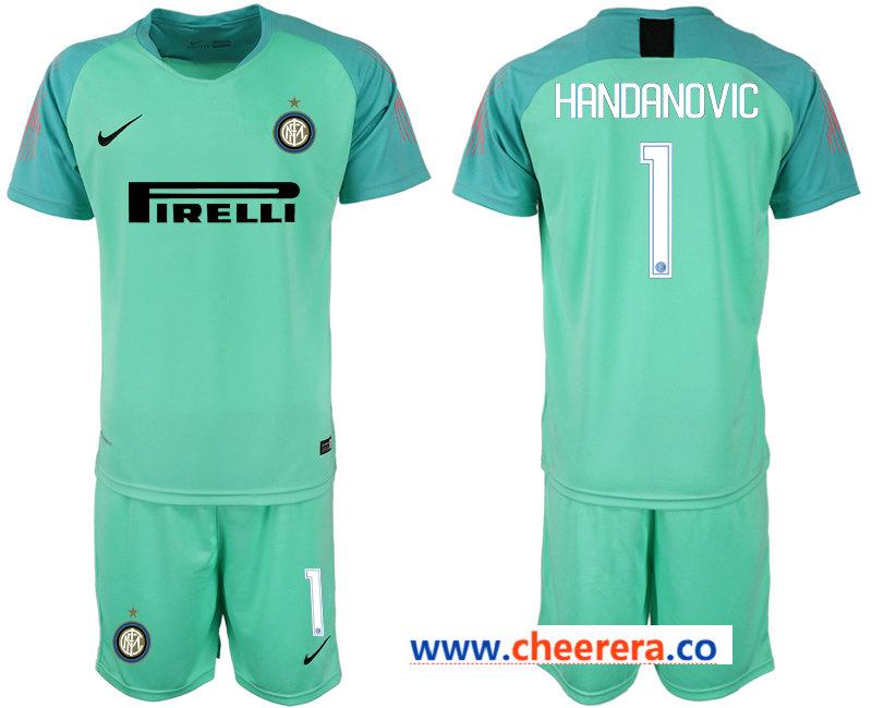 2018-19 Inter Milan 1 HANDANOVIC Green Goalkeeper Soccer Jersey