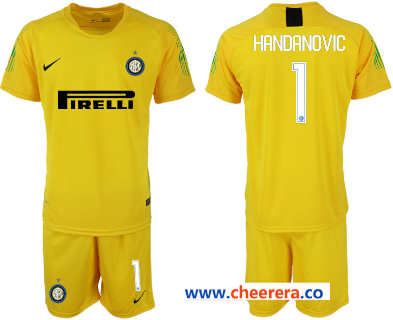 2018-19 Inter Milan 1 HANDANOVIC Yellow Goalkeeper Soccer Jersey