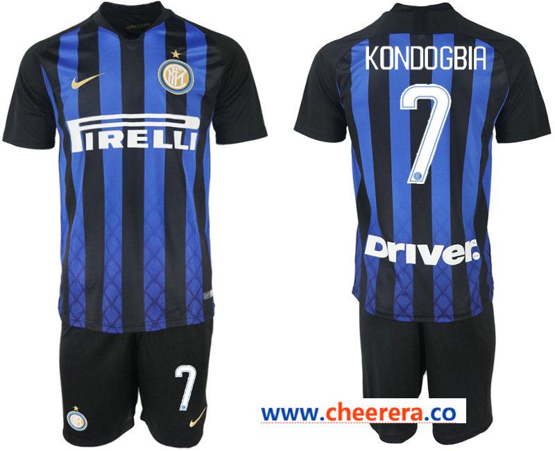 2018-19 Inter Milan 7 KONDOGBIA Home Soccer Jersey