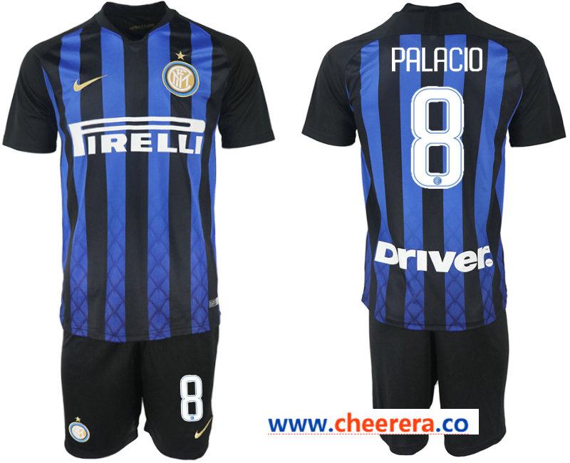 2018-19 Inter Milan 8 PALACIO Home Soccer Jersey