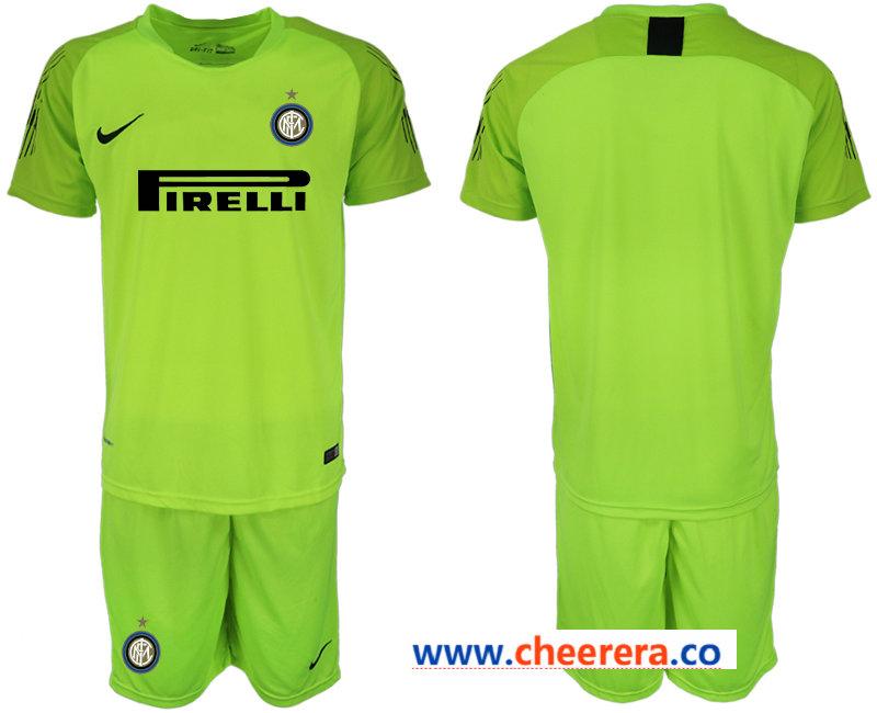 2018-19 Inter Milan Fluorescent Green Goalkeeper Soccer Jersey