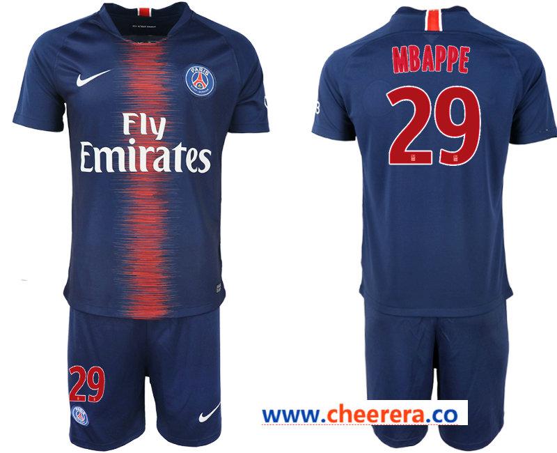 2018-19 Pari Saint-Germain 29 MBAPPE Home Soccer Jersey