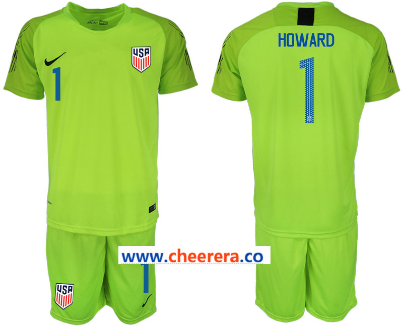 2018-19 USA 1 HOWARD Fluorescent Green Goalkeeper Soccer Jersey