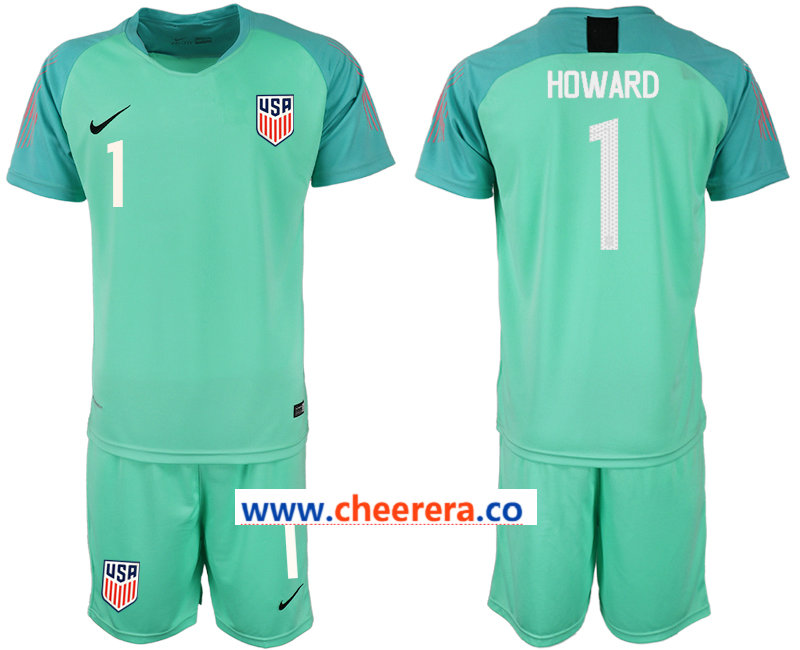 2018-19 USA 1 HOWARD Green Goalkeeper Soccer Jersey