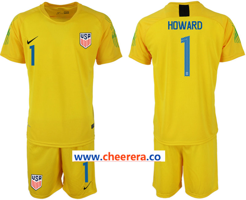 2018-19 USA 1 HOWARD Yellow Goalkeeper Soccer Jersey