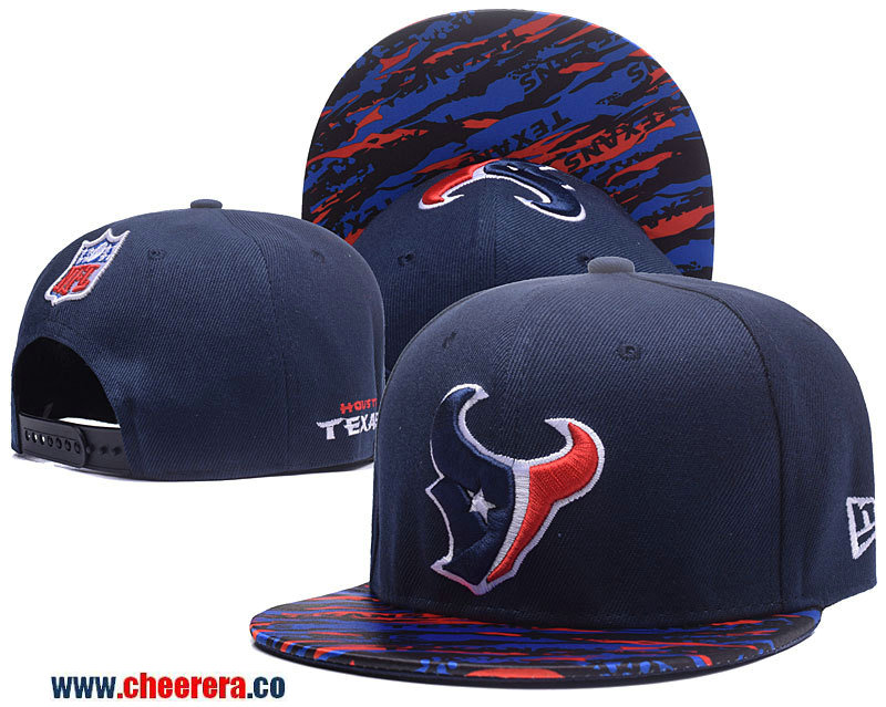 2018 NFL Houston Texans Adjustable Blue SnapBack Hat