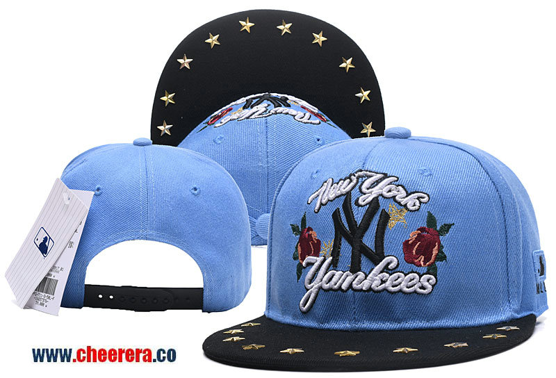 2018 New MLB New York Yankees Adjustable Snapback Hat in Blue in Fashion Style