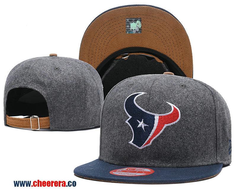 2018 New NFL Houston Texans Adjustable SnapBack Hat in Gary