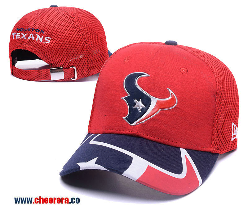 2018 New NFL Houston Texans Adjustable SnapBack Hat in Red