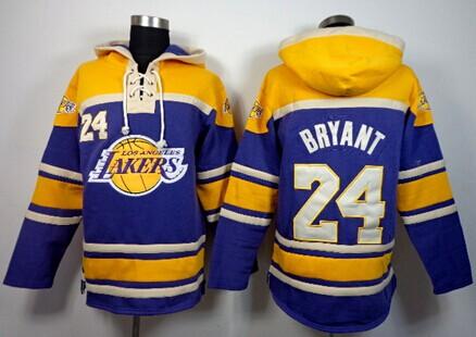 Los Angeles Lakers #24 Kobe Bryant Purple Hoodie