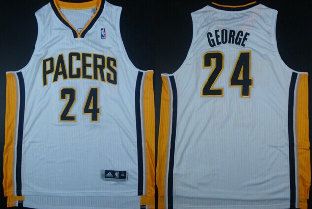 Indiana Pacers #24 Paul George Revolution 30 Authentic White Jersey